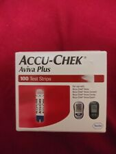 Accu-Chek Aviva Plus Test Strips 100 Factory Sealed Box Mint Condition
