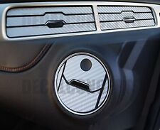 2010-2015 Camaro Silver Carbon Fiber Interior Vent Decal kit - Chevy cover