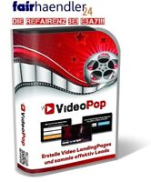 VIDEO POP Landing Pages WERBUNG für Webseite Website VideoPop Leads Websites PLR