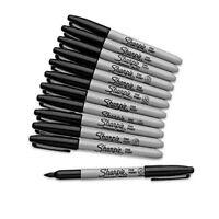 SHARPIE Black FINE Point Bullet Tip Permanent Marker Pens Pack 1,2,3,4,5,6,10,12