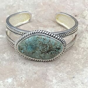 Barse Boulder Cuff Bracelet- Turquoise & Silver Overlay- NWT
