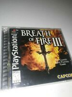 Breath of Fire III (Sony PlayStation 1, 1998) BOF 3 PS1 PS PSOne