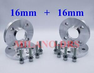 KIT 4 DISTANZIALI RUOTA 16+16mm RENAULT CLIO I-II-III-IV-V + BULLONI
