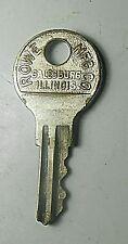 Chicago RX423 Key Padlock Washing Machine Vending Nickel Silver Brass Vintage