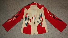 Vintage 1940's Multi-Colored All-Wool CHIMAYO JACKET Hand Woven Hand Tailored