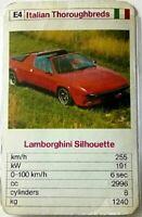 Quartett Einzelkarte - Lamborghini Silhouette  -  Art.Nr.492