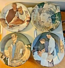 Norman Rockwell Four Freedoms 1980 Tin Plates Lot of 4 Excellent Condition