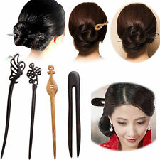 Women Wooden Hair Stick Pin Handmade Carved Wood Vintage Hair Accessories