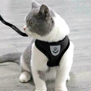 Cat Walking Jacket Harness Escape Proof Pet Dog Adjustable Breathable Mesh Vest
