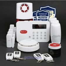 Wireless Telephone Line Autodial Home Security Alarm System With Door Inspection