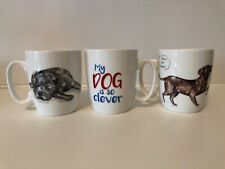 3 x 'Guide Dogs for the Blind' cups/mugs - 'My Dog is Obedient/Clever/Energetic'