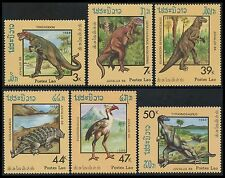 LAOS N°844/849**  PREHISTOIRE, Dinosaures 1988, Dinosaurs set MNH
