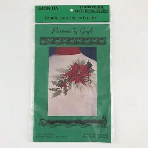 """Pattern By Gayle """"Holiday Bough"""" #410 Iron On Fabric Painting Pattern"""