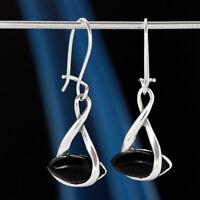 Onyx Silber 925 Ohrringe Damen Schmuck Sterlingsilber H510