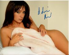 ADRIANA ROSSI hand-signed NUDE SEXY SEDUCTIVE IN BED 8x10 uacc rd coa IN-PERSON