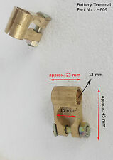 12V Car Battery Terminals Clamps Connectors Boat Heavy Duty Brass Bolts +/- M609
