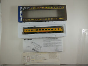 WALTHERS HO UP YELLOW PULLMAN HEAVYWEIGHT 12-1 PLAN #3410A OB #932-10008