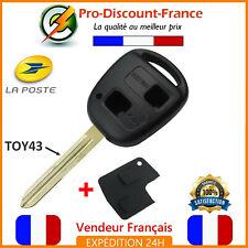 Coque Télécommande Plip Clé 2 Boutons Pour TOYOTA Yaris RAV4 Celica Prius TOY43