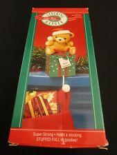 1985 Hallmark Stocking Hanger ~ Little Bear ~ MIB