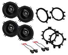 "NEW KENWOOD 5.25"" 3-WAY PERFORMANCE SERIES FRONT & REAR DOOR SPEAKERS W MOUNTS"