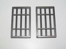 Playmobil Pièce Détachée Lot 2 Fenêtre Barreaux Prison 70 x 40 NEW