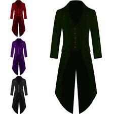 NEU Herren Edle Stil Smoking Mantel Frack Steampunk Mode Gothic Victorian Jacke