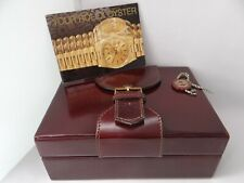 Rolex Watch Box, Mens President Ref 71.80.04, Leather, Vintage 1990's