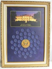 UNITED STATES AMERICA PRESIDENTIAL DOLLARS COLLECTIBLE COIN FRAME WORLD RESERVE