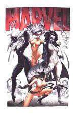 Marvel Comics Heroes Female Spitfire Spectrum Cat Woman Men's T-Shirt Small NWT