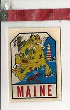 Vintage travel water decal Maine Great Western Ent. Inc. FREE SHIPPING