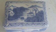 ANTIQUE Chinese Porcelain TRINKET BOX - Casket - Hand Painted Caddy - JAR