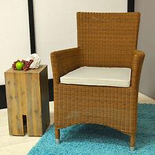 Sitzkissen in creme weiß 44 x 47 x 4 cm mit Reißverschluss und Bindeband Kissen
