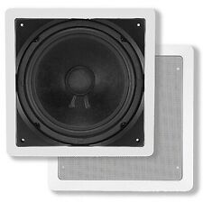 "200W 10"" In Wall Subwoofer Passive Stereo Audio Speaker Home Theater Cinema"