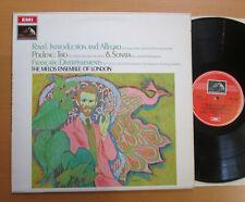 ASD 2506 Ravel Introduction & Allegro Poulenc Trio etc Melos Ensemble 1969 NM/EX