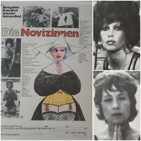 DIE NOVIZINNEN | 1973 Kino Plakat A2 | Brigitte Bardot Annie Girardot Casaril