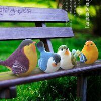 1X Small Fake Artificial Resin Bird Realistic Garden Home Decor Art Chic 12-13cm