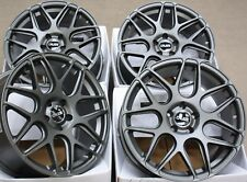 "18"" GUN METAL CR1 ALLOY WHEELS FITS RENAULT LAGUNA MEGANE MK3 SUBARU STI ONLY"