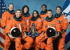 NASA STS-107 Shuttle Crew of First Flight of Space Shuttle Columbia-5x7 Photo