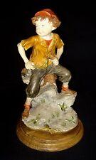 Vtg Giuseppe Armani Capodimonte Boy With Slingshot Figurine Sculpture Signed A G