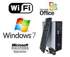 HP AMD DUAL CORE SFF DESKTOP PC COMPUTER 8GB 1TB HD WINDOWS 7 PRO WIFI MS OFFICE