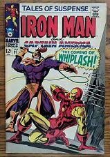 TALES OF SUSPENSE #97 Marvel 68 IRON MAN/CAP AMERICA-1ST WHIPLASH-BLACK PANTHER