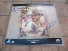 JOHN WILLIAMS & JOHN RHYS-DAVIES SIGNED INDIANA JONES LAST CRUSADE LASERDIS JSA
