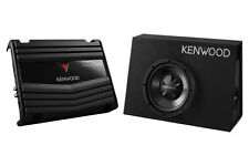 "Kenwood P-W100B 10"" Truck Subwoofer Enclosure with Amplifier KAC5206 PW100B"