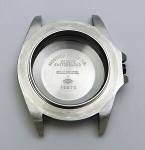 Genuine Authentic Rolex Explorer II 16570 Steel Watch Case & Caseback Circa 1998