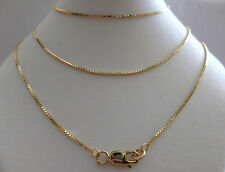 Necklace - 42cm's 16 Inches N4 9ct Solid Yellow Gold Box Chain