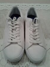 WOMENS DIVIDED H&M WHITE PATENT LEATHER SNEAKERS SIZE EUR 44/US 10.5