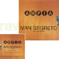 "IVAN SEGRETO feat. FRANCO BATTIATO ""AMPIA"" RARO CDsingolo PROMO - SIGILLATO"