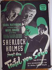 SHERLOCK HOLMES JAGT DEN TEUFEL VON SOHO (Kinoplakat '58) - BASIL RATHBONE