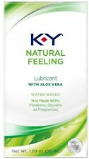 K-Y Natural Feeling Personal Lubricant With Aloe Vera, Water Based 1.69 oz 3pk