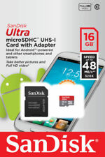 Genuine SanDisk 16GB Micro SD SDHC Ultra TF Memory Card UHS-1 CLASS 10 w/Adaptor
